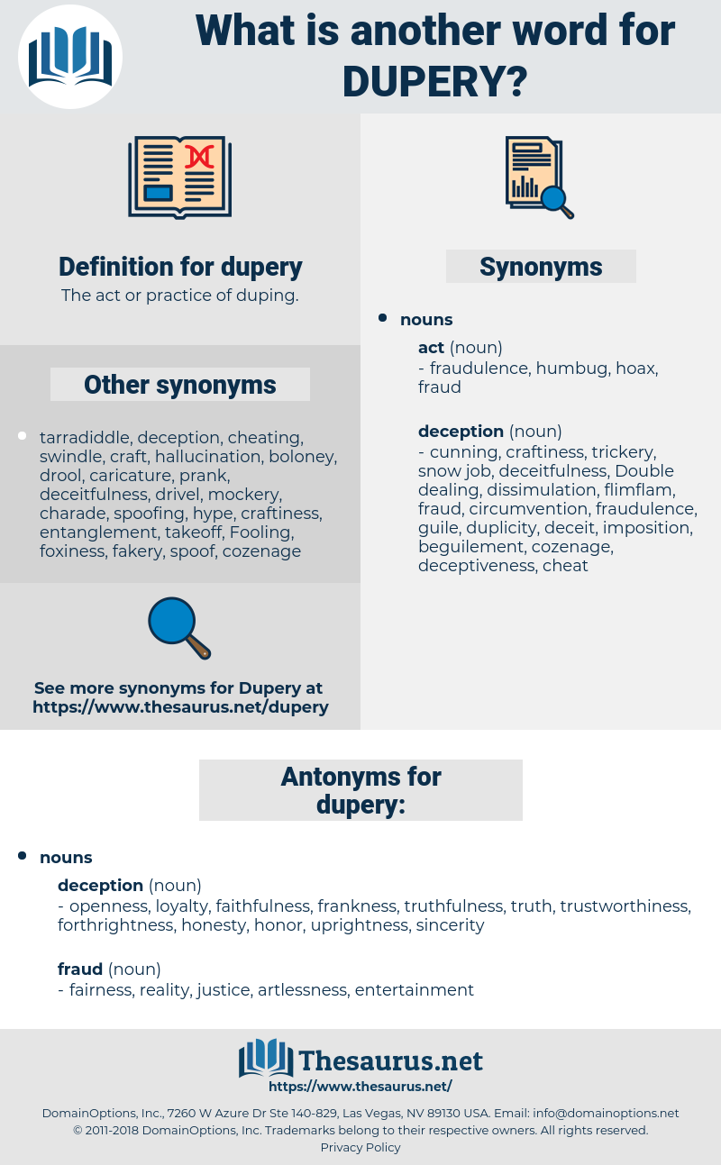 dupery, synonym dupery, another word for dupery, words like dupery, thesaurus dupery