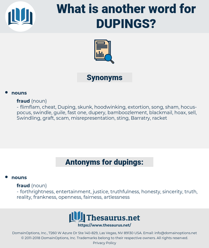 dupings, synonym dupings, another word for dupings, words like dupings, thesaurus dupings