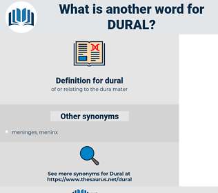 dural, synonym dural, another word for dural, words like dural, thesaurus dural