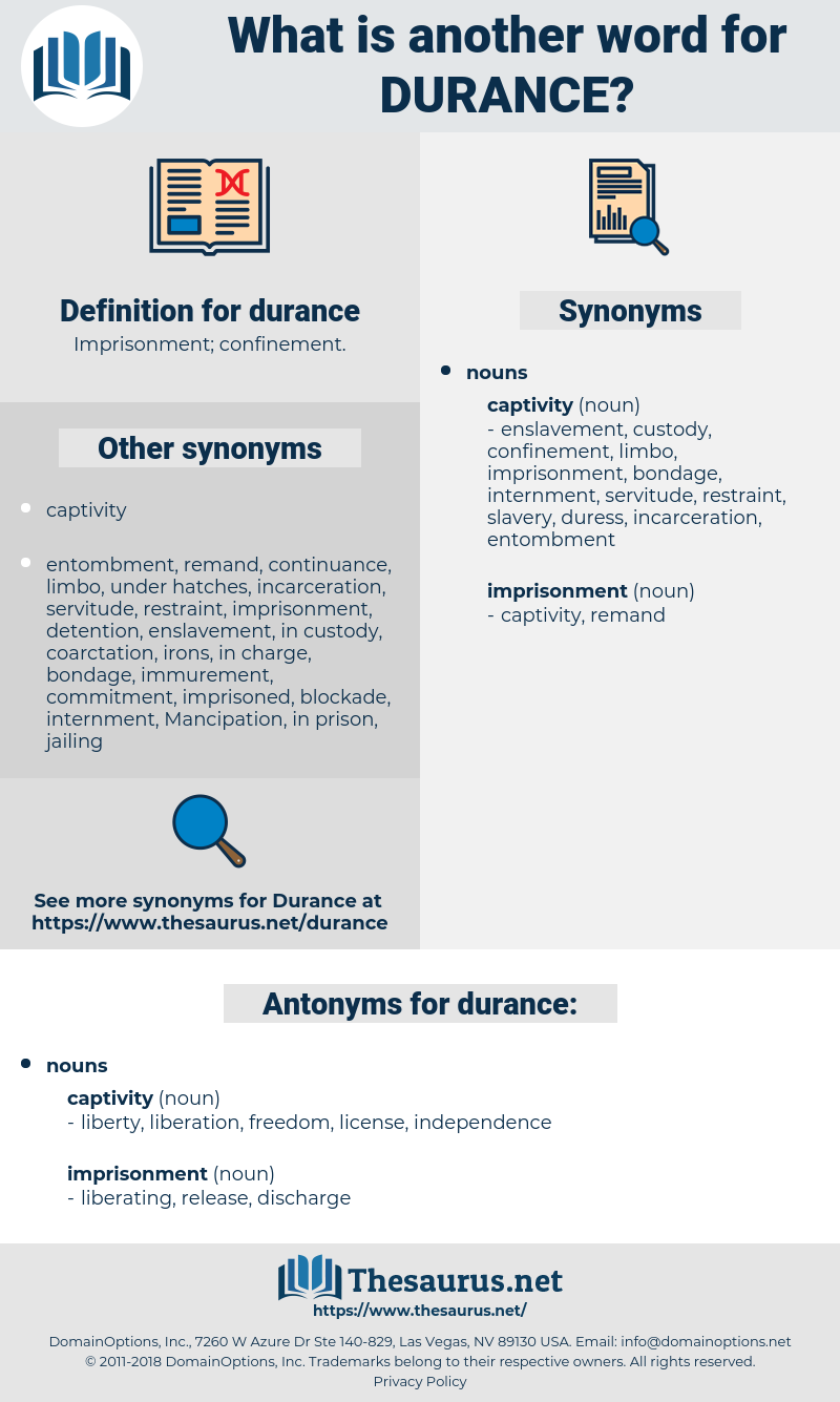 durance, synonym durance, another word for durance, words like durance, thesaurus durance