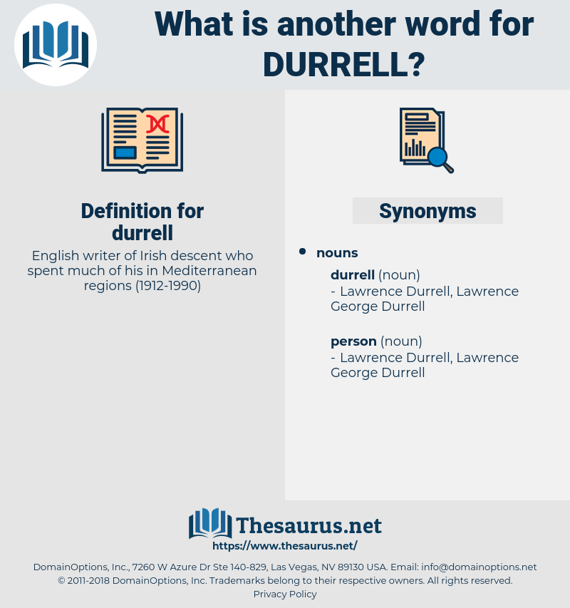 durrell, synonym durrell, another word for durrell, words like durrell, thesaurus durrell