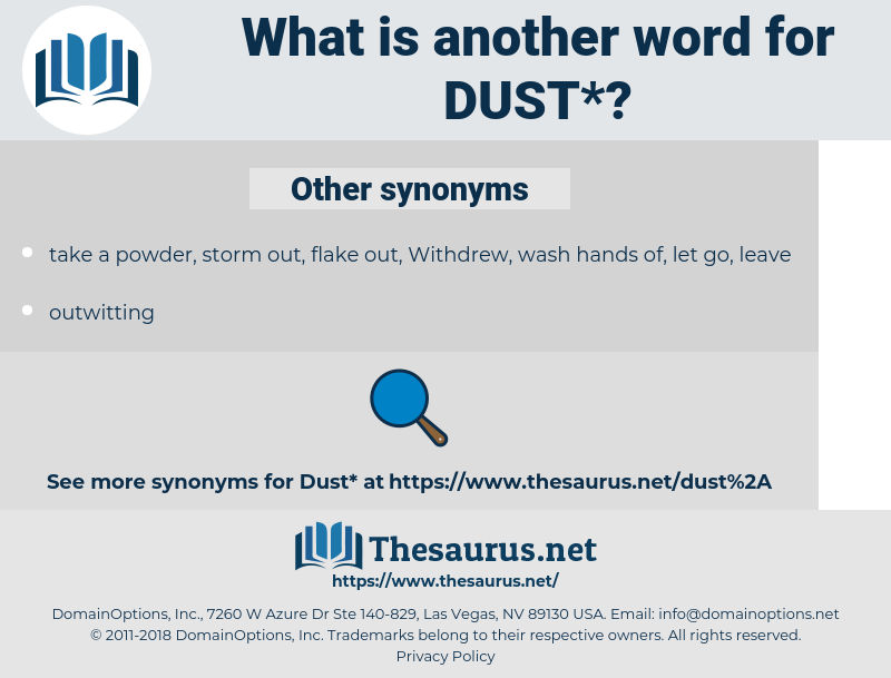 dust, synonym dust, another word for dust, words like dust, thesaurus dust