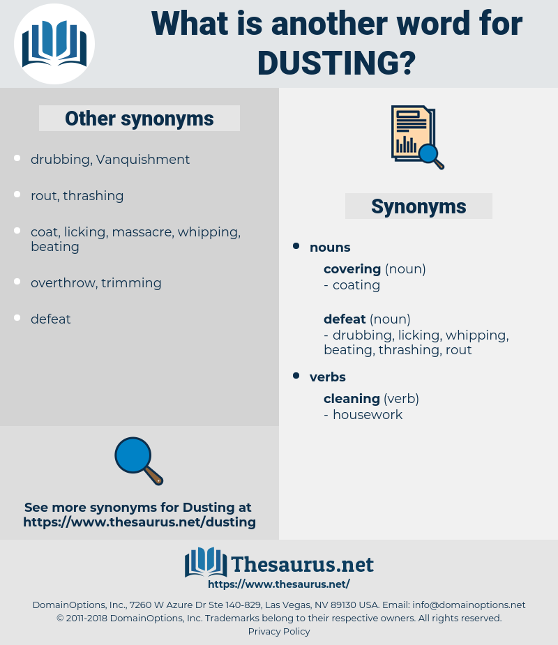 Dusting, synonym Dusting, another word for Dusting, words like Dusting, thesaurus Dusting