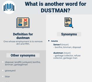 dustman, synonym dustman, another word for dustman, words like dustman, thesaurus dustman
