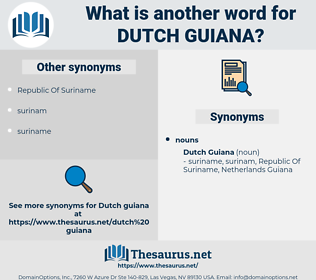 Dutch Guiana, synonym Dutch Guiana, another word for Dutch Guiana, words like Dutch Guiana, thesaurus Dutch Guiana