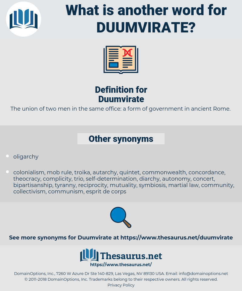 Duumvirate, synonym Duumvirate, another word for Duumvirate, words like Duumvirate, thesaurus Duumvirate