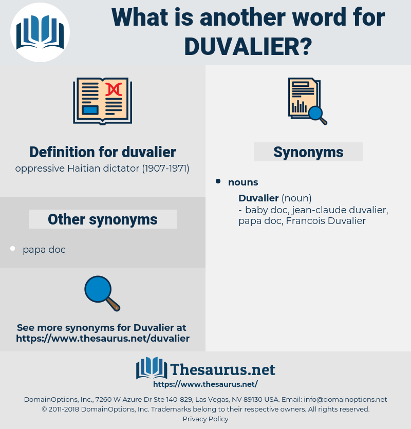duvalier, synonym duvalier, another word for duvalier, words like duvalier, thesaurus duvalier
