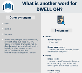 dwell on, synonym dwell on, another word for dwell on, words like dwell on, thesaurus dwell on