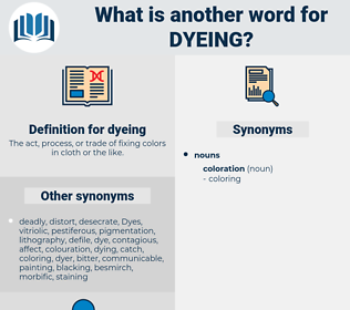 dyeing, synonym dyeing, another word for dyeing, words like dyeing, thesaurus dyeing