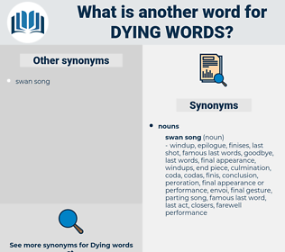 dying words, synonym dying words, another word for dying words, words like dying words, thesaurus dying words