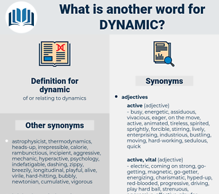 dynamic, synonym dynamic, another word for dynamic, words like dynamic, thesaurus dynamic