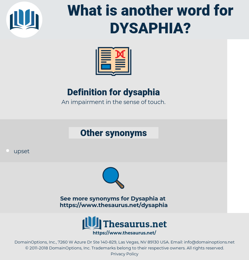 dysaphia, synonym dysaphia, another word for dysaphia, words like dysaphia, thesaurus dysaphia