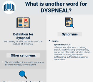 dyspneal, synonym dyspneal, another word for dyspneal, words like dyspneal, thesaurus dyspneal