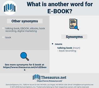 E-Book, synonym E-Book, another word for E-Book, words like E-Book, thesaurus E-Book
