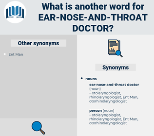 ear-nose-and-throat doctor, synonym ear-nose-and-throat doctor, another word for ear-nose-and-throat doctor, words like ear-nose-and-throat doctor, thesaurus ear-nose-and-throat doctor