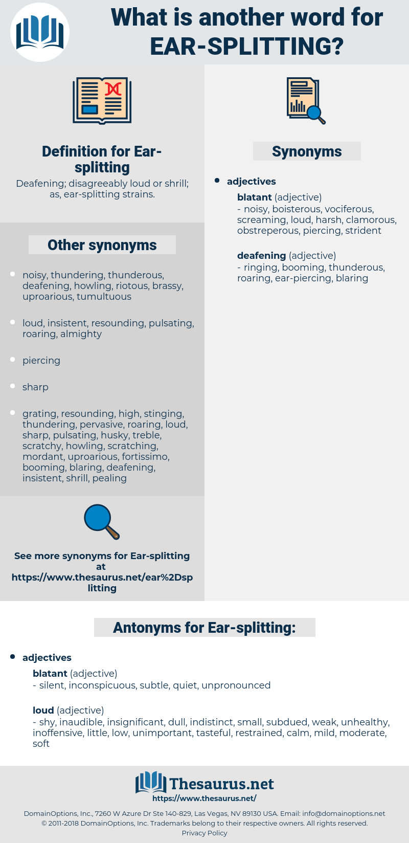 Ear-splitting, synonym Ear-splitting, another word for Ear-splitting, words like Ear-splitting, thesaurus Ear-splitting