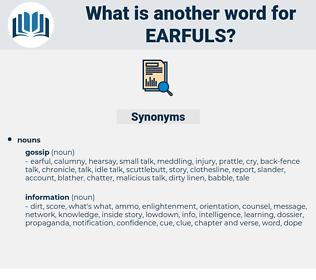 earfuls, synonym earfuls, another word for earfuls, words like earfuls, thesaurus earfuls