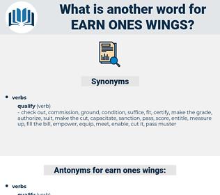 earn ones wings, synonym earn ones wings, another word for earn ones wings, words like earn ones wings, thesaurus earn ones wings