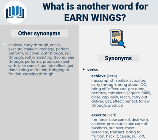 earn wings, synonym earn wings, another word for earn wings, words like earn wings, thesaurus earn wings