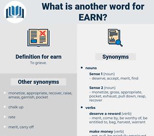 earn, synonym earn, another word for earn, words like earn, thesaurus earn