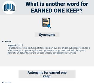 earned one keep, synonym earned one keep, another word for earned one keep, words like earned one keep, thesaurus earned one keep