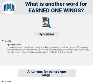 earned one wings, synonym earned one wings, another word for earned one wings, words like earned one wings, thesaurus earned one wings