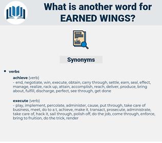 earned wings, synonym earned wings, another word for earned wings, words like earned wings, thesaurus earned wings