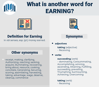 Earning, synonym Earning, another word for Earning, words like Earning, thesaurus Earning