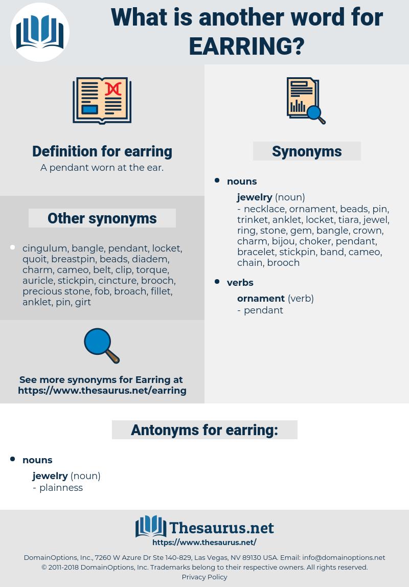 earring, synonym earring, another word for earring, words like earring, thesaurus earring