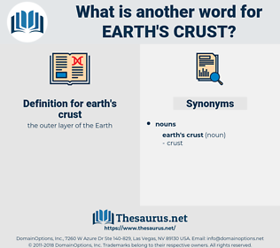 earth's crust, synonym earth's crust, another word for earth's crust, words like earth's crust, thesaurus earth's crust