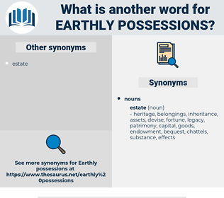 earthly possessions, synonym earthly possessions, another word for earthly possessions, words like earthly possessions, thesaurus earthly possessions