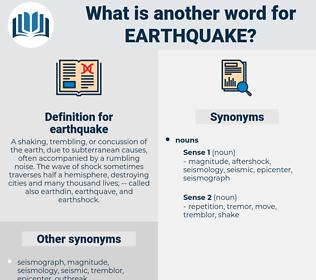 earthquake, synonym earthquake, another word for earthquake, words like earthquake, thesaurus earthquake