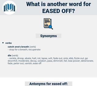 eased off, synonym eased off, another word for eased off, words like eased off, thesaurus eased off