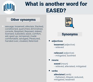 eased, synonym eased, another word for eased, words like eased, thesaurus eased