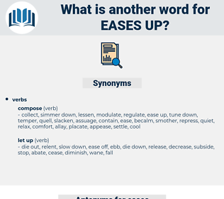 eases up, synonym eases up, another word for eases up, words like eases up, thesaurus eases up