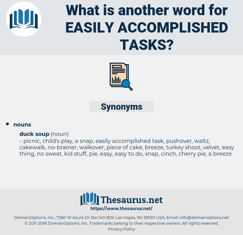 easily accomplished tasks, synonym easily accomplished tasks, another word for easily accomplished tasks, words like easily accomplished tasks, thesaurus easily accomplished tasks