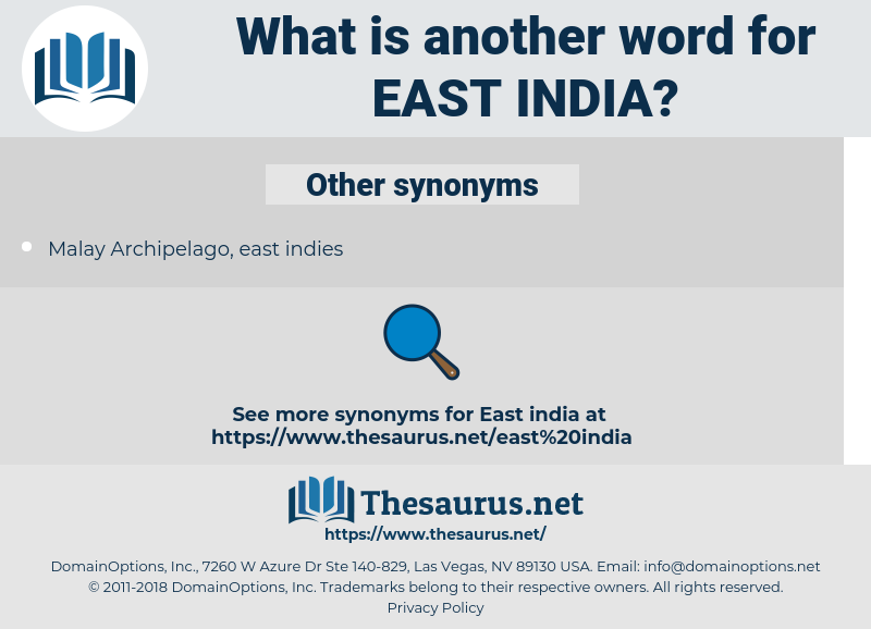 East India, synonym East India, another word for East India, words like East India, thesaurus East India