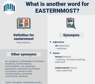easternmost, synonym easternmost, another word for easternmost, words like easternmost, thesaurus easternmost