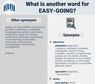 easy going, synonym easy going, another word for easy going, words like easy going, thesaurus easy going