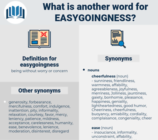 easygoingness, synonym easygoingness, another word for easygoingness, words like easygoingness, thesaurus easygoingness