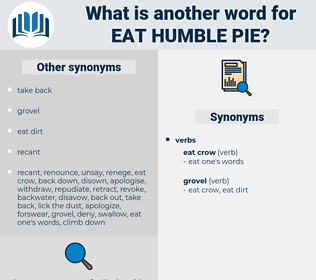 eat humble pie, synonym eat humble pie, another word for eat humble pie, words like eat humble pie, thesaurus eat humble pie