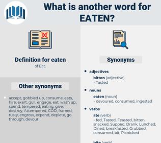 eaten, synonym eaten, another word for eaten, words like eaten, thesaurus eaten