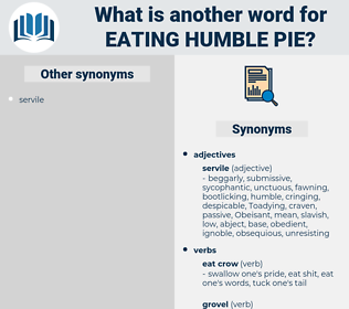 eating humble pie, synonym eating humble pie, another word for eating humble pie, words like eating humble pie, thesaurus eating humble pie