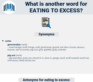 eating to excess, synonym eating to excess, another word for eating to excess, words like eating to excess, thesaurus eating to excess