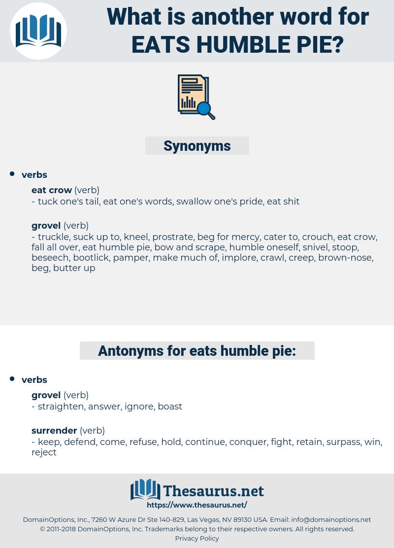 eats humble pie, synonym eats humble pie, another word for eats humble pie, words like eats humble pie, thesaurus eats humble pie