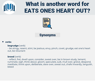 eats ones heart out, synonym eats ones heart out, another word for eats ones heart out, words like eats ones heart out, thesaurus eats ones heart out
