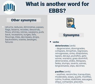 ebbs, synonym ebbs, another word for ebbs, words like ebbs, thesaurus ebbs