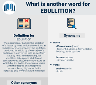Ebullition, synonym Ebullition, another word for Ebullition, words like Ebullition, thesaurus Ebullition