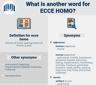 ecce homo, synonym ecce homo, another word for ecce homo, words like ecce homo, thesaurus ecce homo
