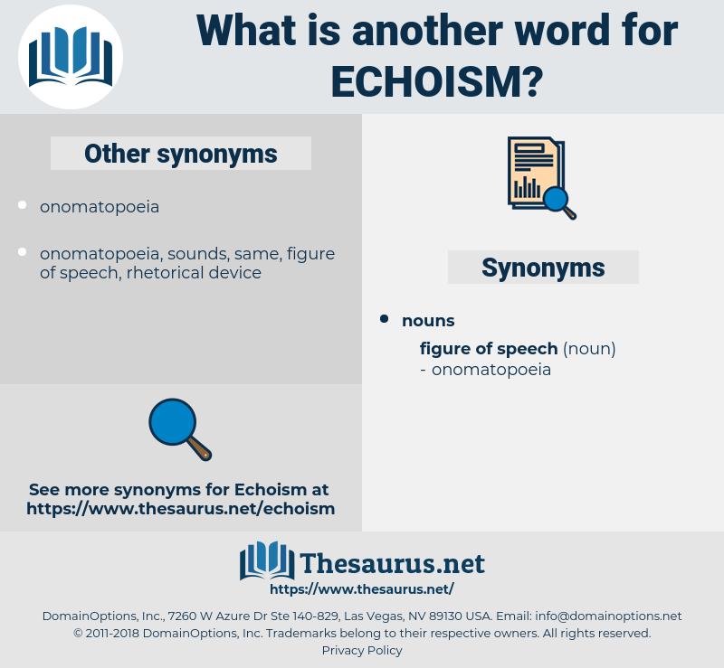 echoism, synonym echoism, another word for echoism, words like echoism, thesaurus echoism